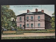 Yorkshire ROTHERHAM Clifton Park The Museum & Canons Old Postcard