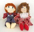 Vintage Rag Doll Set Boy & Girl with Tags American Heritage Stuffed Dolls