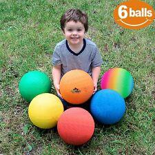 Playground Balls Set of 6 8.5 inch DodgeBall Handbal Kickball for Kid and Adult