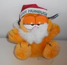 "Vintage 1980's Garfield The Cat - CHRISTMAS -  7"" Plush Toy - Jim Davis  (1Z)"