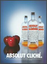 ABSOLUT MANDRIN Mandarin Flavored Vodka - Absolut Cliche' - 2001 Print Ad