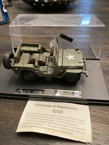New Ray 1941 Willy's Jeep Military U.S. Army Diecast Car Green 1:32 Scale