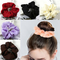 Trendy Lady Ponytail Hair Scrunchie Ring Elastic Pure Color Sports Dance Fashion