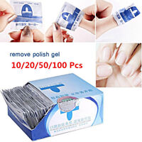 10/20/50/100Pcs  Nail Polish Remover Easy Cleaner Gel Nail Wraps UV Gel Remover