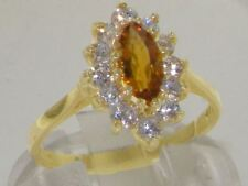 Citrine Yellow Gold Anniversary Fine Gemstone Rings