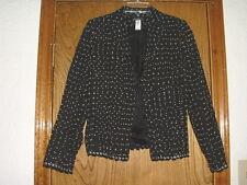 Girls David Charles Suit Jacket/Top Black w/White Dots Size 14 Years
