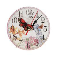 Orologio Da Parete Vintage Rotondo Retro Arredamento Decorazione Per Cucina Casa