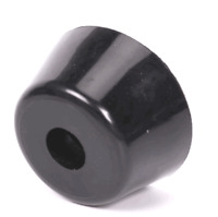 "1/2"" x 1/4"" (D X H) Tapered Rubber Foot W/ Steel Washer Recessed Rubber Feet."