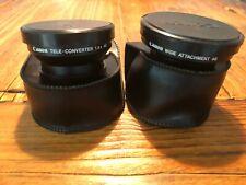 Canon tele-converter 1.4 and wide angle 46