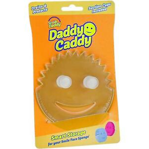 Scrub Daddy Caddy Smiley Face Sponge Holder, with Suction Cups and Smart Storage