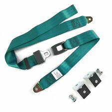 2pt Aqua Standard Buckle Lap Seatbelt with Mounting Hardware harness rat rod