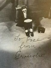 """GROUCHO MARX AUTOGRAPHED """"WHY A DUCK"""" 1971 BROTHER RARE SIGNED BIG MOVIE BOOK"""