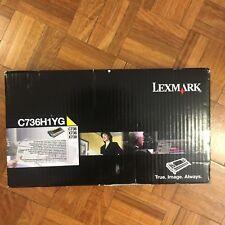LEXMARK GENUINE C736H1YG Yellow High Yield Return Program Toner Cartridge