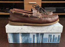 Sperry Top-Sider Boat Shoes A/O Amaretto Brown Brand New UK Mens Size 8