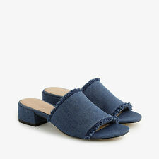 NIB JCREW J CREW WOMAN Low-heel mules in denim NEW 6H MEDIUM