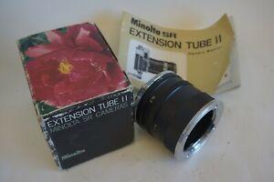 Minolta macro Extension Tube II  in Box with Manual