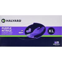 *1-Pack* Halyard Purple Powder-Free Nitrile Examination 90 Gloves X-Large 53434