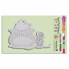 JELLY BEAN BIRD HMCR47 Stampendous House Mouse Cling Stamp Easter Mudpie &Friend