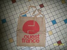 SAC deTOILE PUBLICITE JOURNAL OUEST FRANCE BESACE MUSETTE newspaper