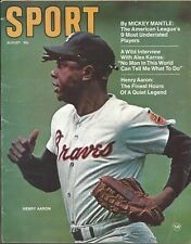 1970 (Aug.) Sport Magazine, Baseball, Hank Aaron, Atlanta Braves ~ Fair No Label
