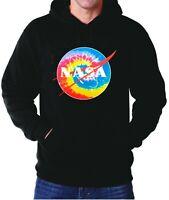 Hoodie NASA Tie Dye Print Hooded Sweatshirt