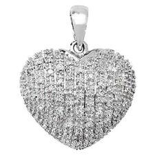 Collares y colgantes de joyería con diamantes colgante en oro blanco SI2