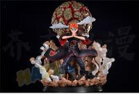 Naruto Akatsuki Pain Pein Painted PVC Figura de acción estatua con luz LED
