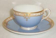 Antique 1920s Royal Worcester Periwinkle Blue Cup & Saucer - #C2010 - Rare
