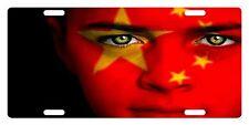 CHINA Flag Custom License Plate Chinese People Emblem Girl  Version