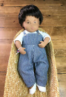 "Sasha Doll Baby Denim Playsuit 510S 13"" Vinyl Doll With Wrist Tag and Box"