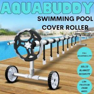 Aquabuddy Swimming Pool Cover Roller Reel Adjustable Solar Thermal Blanket AU