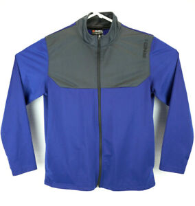 AND1 Mens Long Sleeve Full Zip Up Lightweight Jacket Blue & Dark Gray Size Large