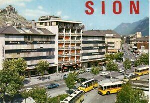Sion, Valais,Suisse 1980s Gare postale
