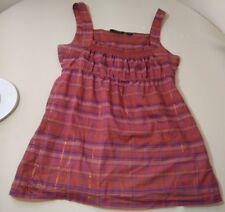 Volcom women's blouse size medium sleeveless plaid pockets flow loose
