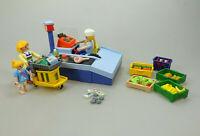 Playmobil Spielset aus 3201 Kasse Supermarkt mit Zubehör