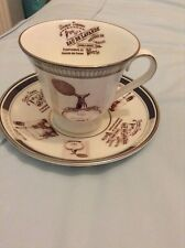 WATERFORD FINE ENGLISH CHINA FOOTED TEA CUP & SAUCER SET PLATINUM RANGE