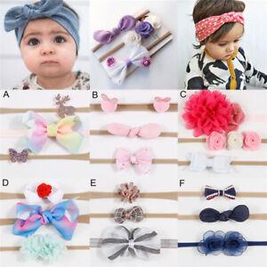 3Pcs/set Newborn Girl Baby Headband Elastic Head Band Kids Hair Band Flower Cute