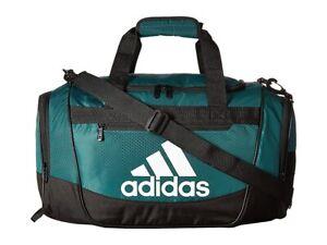 adidas 187046 Mens Defender III Small Duffel Bag Collegiate Green/Black/White
