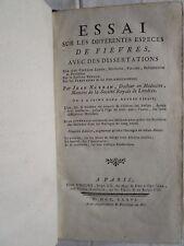 HUXHAM : ESSAI SUR LES FIEVRES + NOURRIR LES ENFANS + GUERISON MARINIERS, 1776.