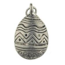 Vintage Sterling Silver Easter Egg Bracelet Charm Pendant 925 1.8g d333