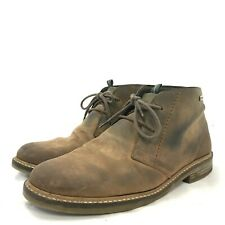 Barbour Boots UK7 Brown Lace Up Dessert Casual Suede Mens 181017
