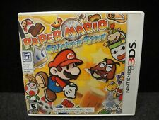 PAPER MARIO STICKER STAR NINTENDO 3DS GAME COMPLETE IN CASE