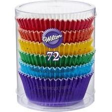 72 Pcs Rainbow Cake Foil Baking Paper Cups Cupcake Muffin Liners Birthday Party