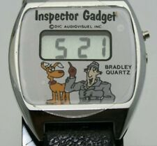 NEW RARE 1983 BRADLEY QUARTZ INSPECTOR GADGET OFFICIAL PRODUCT LCD DIGITAL WATCH