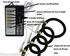 Electro E-STIM EMS TENS MASSAGGI Set con 4 anelli di gomma conduttiva, piombo e unità