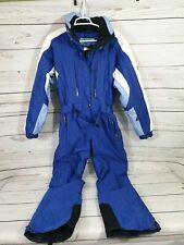 Womens Pinnacle Couloir One Piece Snow Suit / Ski Suit Size 10 Blue / White