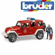 Bruder Jeep Wrangler Unlimited Rubicon Vehicle & Fireman Toy Model Scale 1:16