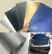 1 Set Samples - New Car Matte Metallic Brushed Vinyl Wrap Sticker Film Sheet
