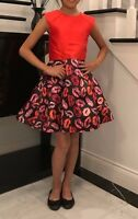 1 Piece Red Kiss Short  Pageant Interview Dress / Homecoming Dress
