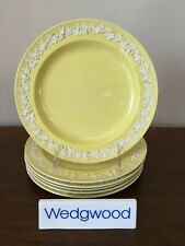 Antique Wedgwood Embossed YELLOW QUEEN'S WARE Salad Plate c.1919 (B) ~ Set of 6